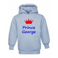 Prince + Crown Any Name Childrens Hoodie