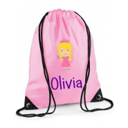 Princess Any Name Drawstring Bag
