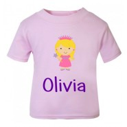 Princess Any Name Childrens Printed T-Shirt