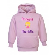 Princess Text + Any Name Childrens Hoodie
