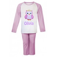 Princess Owl Any Name Embroidered Pyjamas