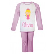 Princess Any Name Childrens Pyjamas