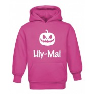 Halloween Pumpkin Silhouette Childrens Glow in Dark Hoodie