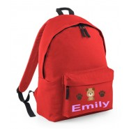 Puppy Dog Any Name Childs Rucksack