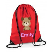 Puppy Dog Any Name Drawstring Bag