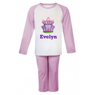 Purple Castle Any Name Embroidered Pyjamas