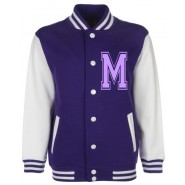 Personalised Junior Stanford Purple Varsity Jacket