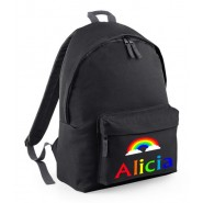 Rainbow Any Name Childs Rucksack