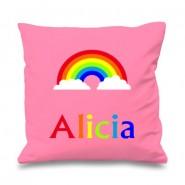 Rainbow Any Name Printed Cushion