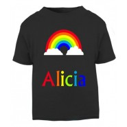 Rainbow Any Name Childrens Printed T-Shirt