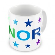 Rainbow Colours Stars + Name Mug