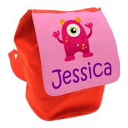 Pink Monster Any Name Toddler Backpack