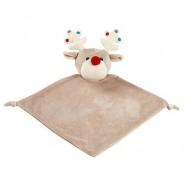 Beige Reindeer Christmas Comfort Blanket