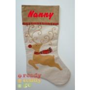 Tartan Reindeer Christmas Stocking