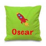 Rocket Any Name Printed Cushion