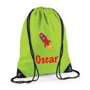 Rocket Any Name Drawstring Bag