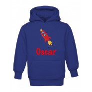Rocket Any Name Childrens Hoodie