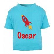 Rocket Any Name Childrens Printed T-Shirt