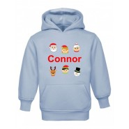 Christmas Santa's Buddies Any Name Childrens Hoodie