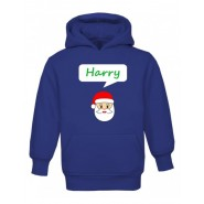 Christmas Santa Any Name Childrens Hoodie