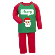 Christmas Santa Any Name Childrens Pyjamas