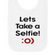 Lets Take a Selfie Baby Bib