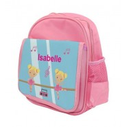 Ballet Dancers Any Name Childs Backpack