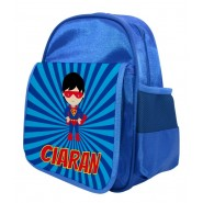 Super Hero Any Name Childs Backpack
