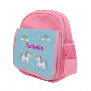 Unicorns Any Name Childs Backpack