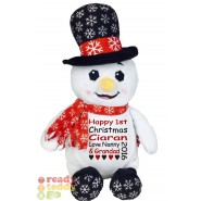 Dr. Diddly Diddlington The Christmas Snowman Black Top Hat