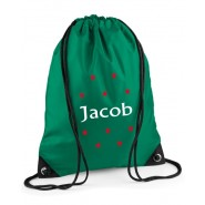 Stars Any Name Drawstring Bag