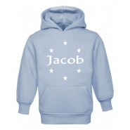 Stars Silhouette Any Name Childrens Glow in Dark Hoodie