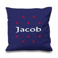 Stars Any Name Printed Cushion