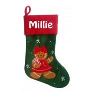 Gingerbread Woman Christmas Stocking