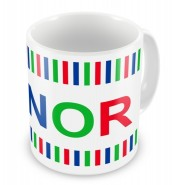 Boy Colours Stripes + Name Mug