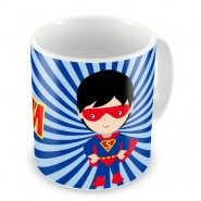 Super Hero Boy + Name Mug
