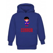 Super Boy Any Name Childrens Hoodie