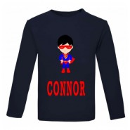 Super Boy Any Name Childrens Printed T-Shirt