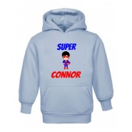 Super Hero Any Name Childrens Hoodie