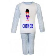 Super Boy Any Name Childrens Pyjamas