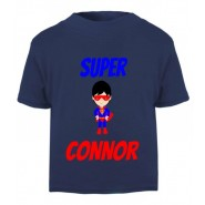 Super Hero Any Name Childrens Printed T-Shirt