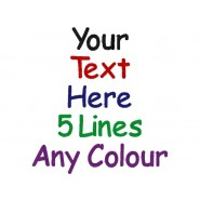 5 Lines Any Text Baby Cotton / Fleece Blanket