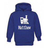 Train Silhouette Any Name Childrens Glow in Dark Hoodie