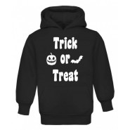 Halloween Trick or Treat Silhouette Childrens Glow in Dark Hoodie