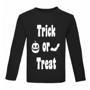 Halloween Trick or Treat Childrens Glow in Dark T-Shirt