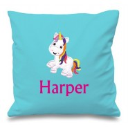 Unicorn Any Name Embroidered Cushion
