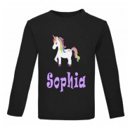 Unicorn Any Name Childrens Printed T-Shirt