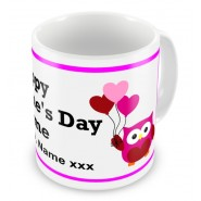 Valentines Day Love Owls Any Text Mug