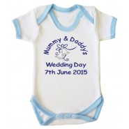 Mummy & Daddy's Wedding Day Any Date Boy Baby Vest