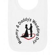 Mummy & Daddy's Wedding Day Baby Bib